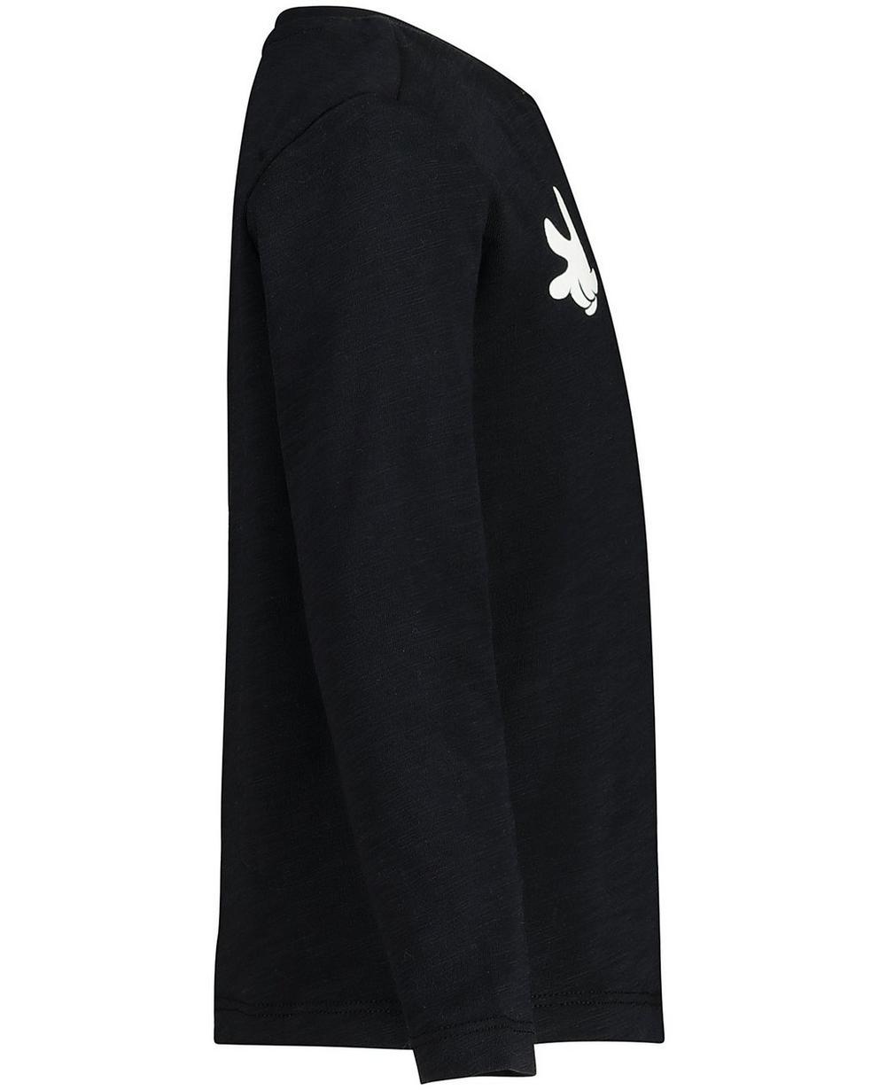T-Shirts - Schwarz - Schwarzes Longsleeve